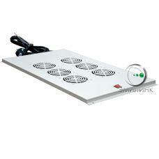 NTSS-FAN6/1000 Вентиляторный модуль ПРЕМИУМ 6 элемента потолочный без термостата для напольных шкафов с глубиной 1000мм