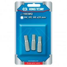 """1003MQ Набор вставок (бит) 1/4"""", HEX, 4, 5, 6 мм, 3 предмета KING TONY"""
