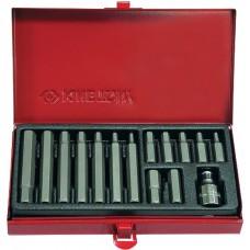 1015MQ Набор вставок (бит) 10 мм, HEX, 4-12 мм, 15 предметов KING TONY