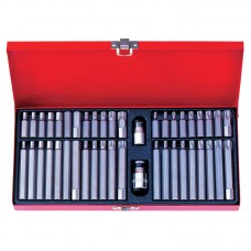 1044CQ Набор вставок (бит) 10 мм, TORX, SPLINE, HEX, 44 предмета KING TONY