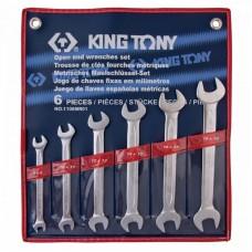1106MR01 набор рожковых ключей, 8-19 мм, 6 предметов KING TONY