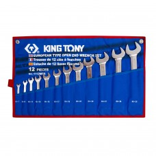 1112MRN набор рожковых ключей, 6-32 мм, чехол из теторона, 12 предметов KING TONY