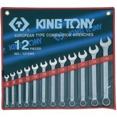 1212MR набор комбинированных ключей, 8-22 мм, 12 предметов KING TONY