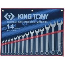 """1214SR набор комбинированных ключей, 5/16""""-1-1/4"""", 14 предметов KING TONY"""