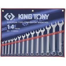1215MR01 набор комбинированных ключей, 8-24 мм, 14 предметов KING TONY