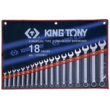 1218MR01 набор комбинированных ключей, 6-24 мм, 18 предметов KING TONY