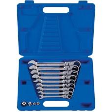 13013MR набор комбинированных трещоточных ключей, 8-19 мм, кейс, 13 предметов KING TONY
