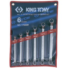 1706MR набор накидных ключей, 6-17 мм, 6 предметов KING TONY
