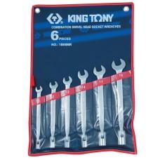 1B06MR набор комбинированных ключей, 10-19 мм, 6 предметов KING TONY