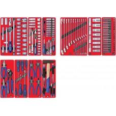 """МАСТАК 5-00186 набор инструментов """"стандарт"""" для тележки, 10 ложементов, 186 предметов"""
