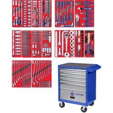 """МАСТАК 52-05299B набор инструментов """"ПРОФИ"""" в синей тележке, 299 предметов"""
