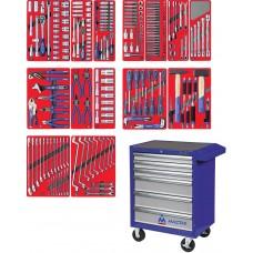 """МАСТАК 52-06270B набор инструментов """"ЛИДЕР"""" в синей тележке, 270 предметов"""