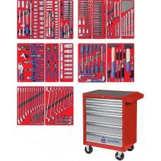 """МАСТАК 52-06270R набор инструментов """"ЛИДЕР"""" в красной тележке, 270 предметов"""