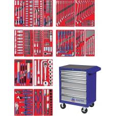 """МАСТАК 52-06323B набор инструментов """"ЭКСПЕРТ"""" в синей тележке, 323 предмета"""