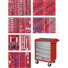 """МАСТАК 52-06323R набор инструментов """"ЭКСПЕРТ"""" в красной тележке, 323 предмета"""