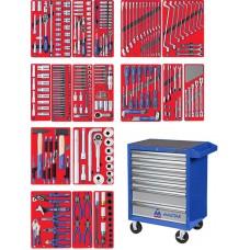 """МАСТАК 52-07323B набор инструментов """"ЭКСПЕРТ"""" в синей тележке, 323 предмета"""