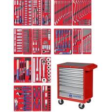 """МАСТАК 52-07323R набор инструментов """"ЭКСПЕРТ"""" в красной тележке, 323 предмета"""