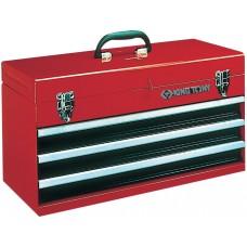87401-3 ящик инструментальный, 3 ящика и отсек, красный KING TONY