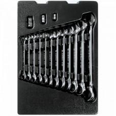 9-10215MR набор комбинированных ключей с трещоткой, ложемент, 15 предметов KING TONY