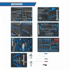 "934-325MRVD набор инструментов ""board"" для тележки, 15 ложементов, 325 предметов KING TONY"