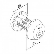 Цилиндр с двух сторон под ключ CY029 ABLOY для сплошных дверей.