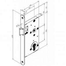 Механический цилиндровый замок 4293 ABLOY для противопожарных дверей