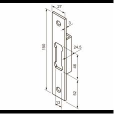 0036 ABLOY запорная планка сталь оцинкованная с лаковым покрытием