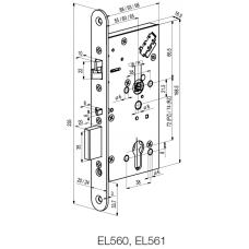 EL560 ABLOY электромеханический замок для сплошных дверей