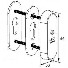 Броненакладка CH102 ABLOY для узкопрофильных дверей