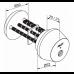 Электромеханический цилиндр CLIQ CYL037 ABLOY с заглушкой с внутренней стороны