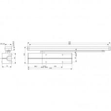 DC500 ASSA ABLOY дверной доводчик Cam-Motion® для дверей до 80 кг