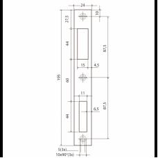 P9600 ABLOY запорная планка для профильных замков DIN