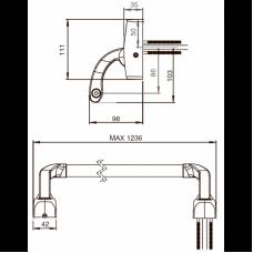 Паник бар PBE001 ABLOY для сплошных и профильных дверей