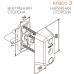 CY066 ABLOY Цилиндр с поворотной кнопкой для профильных дверей.