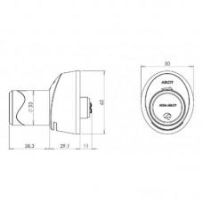 C100 Aperio цилиндр финского стандарта нержавеющая сталь ASSA ABLOY