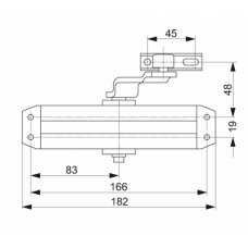 DC110 ASSA ABLOY дверной доводчик для дверей весом до 80 кг