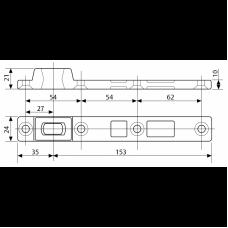 MA0393S0 (AC393) нижняя петля для установки маятниковых дверей на шпиндель напольных дверных доводчиков ASSA ABLOY