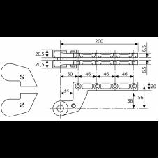 MA038400 (AC384) верхняя петля для левых и правых дверей, смещение 36 мм
