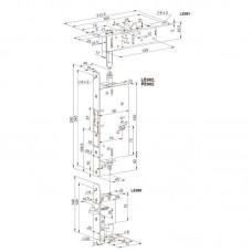 PE911 ABLOY комплект механических защелок LE980-LE981-LE982 для пассивной створки