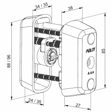 Двойной цилиндр CY065 ABLOY повышенной степени надежности.