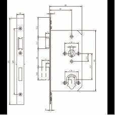 NF6112 ABLOY симметричный замок с изменяемой сторонностью для аварийных выходов (ручка с раздельным штоком)