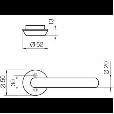 Односторонняя ручка PRESTO 3-20/030 ABLOY EXIT