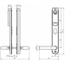 Беспроводной щиток E100 SCAND Standard ASSA ABLOY с отверстиями под цилиндр с внешней стороны