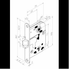 2014 ABLOY механический замок для внутренних дверей и дверей туалетных комнат