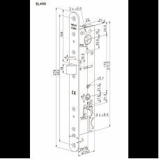 EL490 ABLOY моторный замок для внутренних и наружных профильных дверей с дистанционным управлением