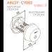 Двухсторонний цилиндр CY002 ABLOY