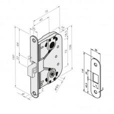 4249 ABLOY замок с крюкообразным ригелем для легких раздвижных дверей
