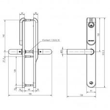 Беспроводной щиток E100P Premium blind для уличных дверей ASSA ABLOY без отверстий под цилиндр