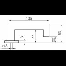 Односторонняя ручка INOXI 3-19K/030 ABLOY