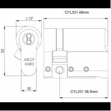 Электромеханический односторонний цилиндр CLIQ CYL331 ABLOY
